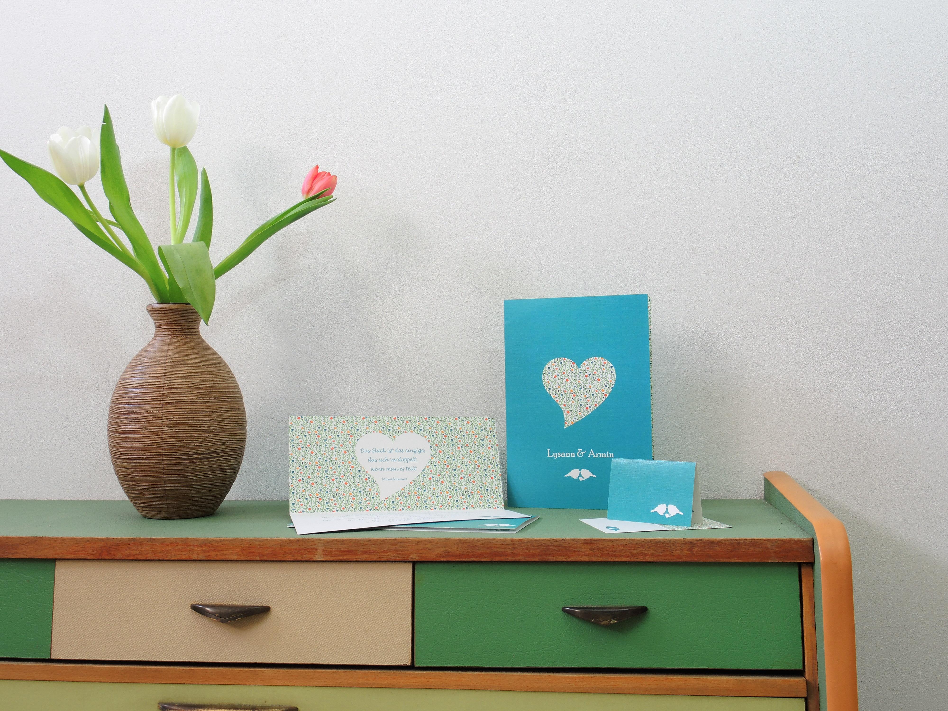 Papeterie, Hochzeit, Lysann Bohne, Grafikdesign und Fotografie, Tulpen